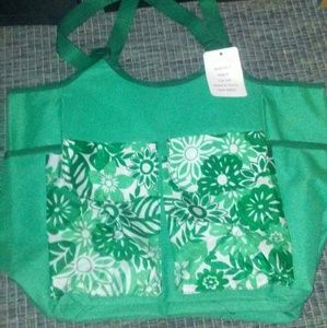 2 Piece Green Insulated Beach Bag & Tote